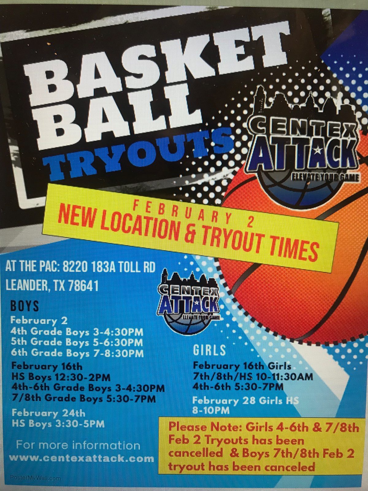 Updated Tryout Info